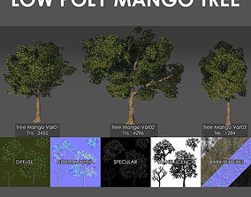 Mango Tree Pack 3D asset