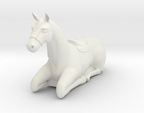 3D print model Laying Horse