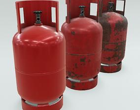 3D model 4K Low-Poly PBR Propane Gas Cylinder 11 kg - 3 2