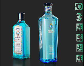 3D Star of Bombay English Estate Gin bottles set 02