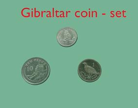 3D Gibraltar coin-set model