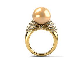Big Yellow Pearl Ring 3D printable model