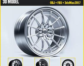 Enkei Wheels - nt03m 3D Model low-poly