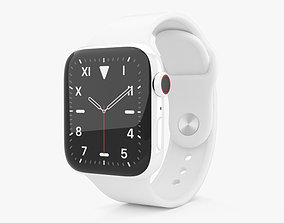 3D model Apple Watch Series 5 40mm Ceramic Case with Sport