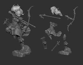 3D printable model Female Archer Character