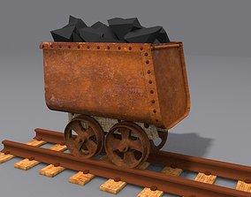 Mine Trolley 3D model antique