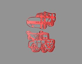 3D print model Cars Rayo MacQueen and Mate Cookie Cutter 1