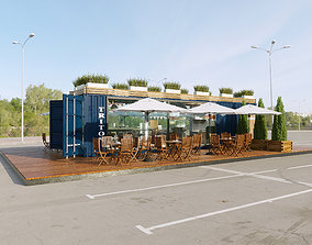 3D Cafe container