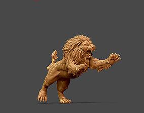 3D print model Lion de nemee - 36mm cat