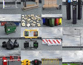 Street Elements Collection 3D asset