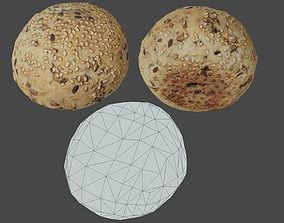 Bread Bun 01 - Low Poly - Photogrammetry 3D model