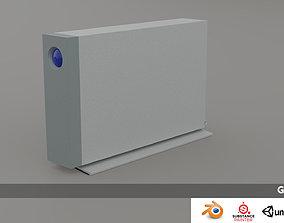 realtime 3d model of hard disk Lacie