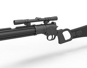 Boba Fett blaster carbine EE-3 from the movie 3D model 2