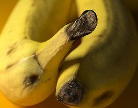 Banana 3D model VR / AR ready banana