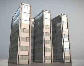 3D asset City Building Design E-1