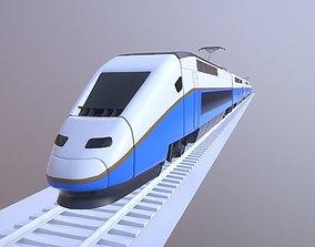 Euroduplex Train Lowpoly 3D model