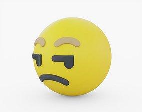Emoji Unamused 3D asset