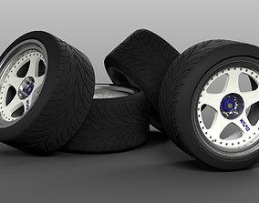 Wheels NISMO LM GT1 3D asset