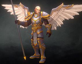 Angelic Warrior Male 3D asset