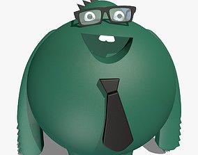 Green Cartoon Character 3D