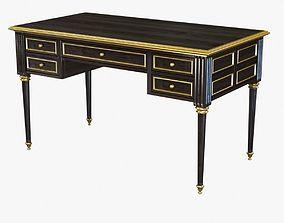Ebonized Antique French Louis XVI Desk 3D model