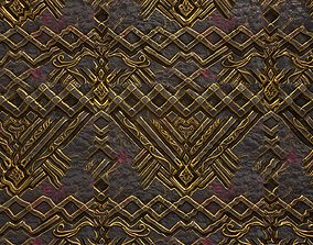 3D asset PBR tileable fantasy metal wall textures with 1