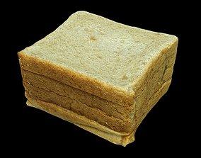 Bread Toasts 3D asset
