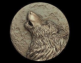 3D printable model Howling Wolf Medallion