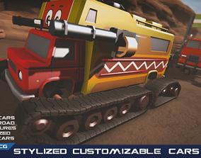 demolition Stylized Customizable Cars post apo v7 3D model