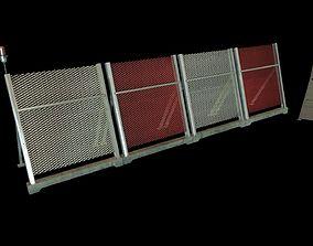 Airport Jet blast deflector 3D asset