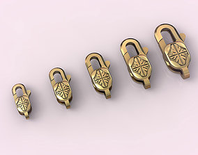 3D printable model Locks for jewelry chains and 1