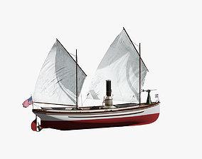 US Navy Steam Cutter 40 ft ca 1900 3D model