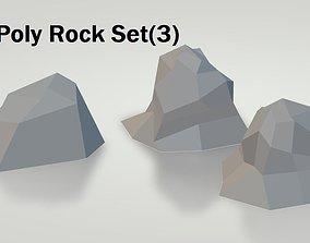3D asset Low-Poly Rock Set-3