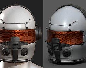 Helmet scifi fantasy futuristic pilot 3D model