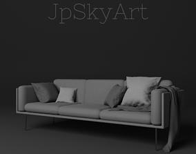 3D model Modern sofa room
