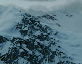 Frosty Mountains 3D model animated