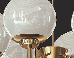 3D 1950s Dining Chandelier from Italy