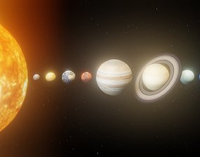 game-ready Photorealistic Solar System Pluto Included 8k 2