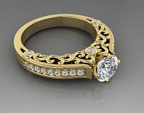3D printable model Engagement ring 2