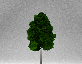 Low Poly Tree 3D asset