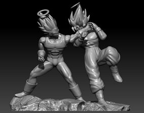 Goku VS Vegeta all 3D print model