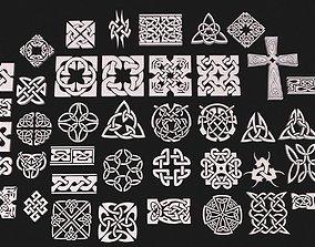 celt Celtic ornament pack full 3D model
