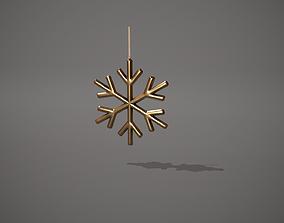 3D asset Gold Snowflake Decoration