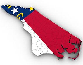 3D model North Carolina Political Map other