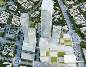 Aerial Cityscape 391 3D Models