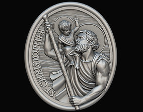 3D print model Saint Christopher Medallion
