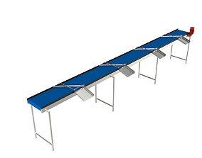 Volume Sorting Conveyor 3D asset