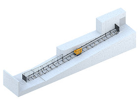 3D model Industrial lift - Prism