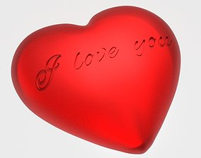 3D print model Heart- i love you