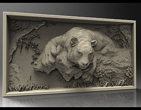 Tiger frame 3d design